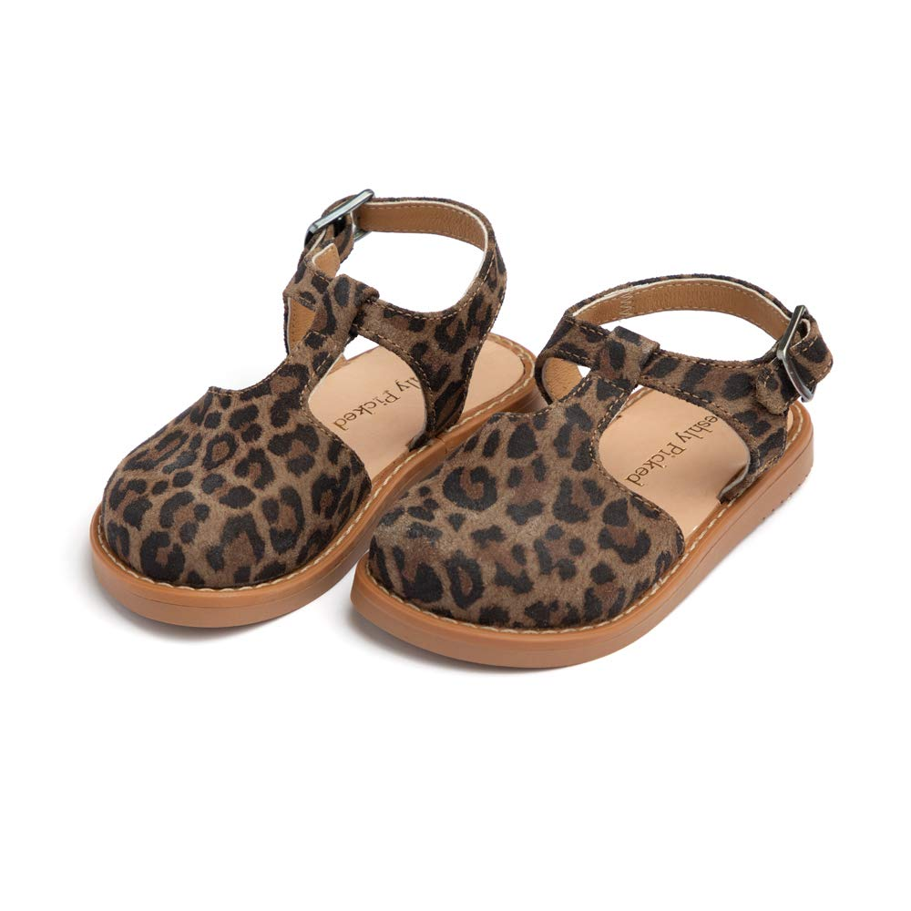 Freshly Picked - Newport Clog - Toddler Girl Leather Sandals - Size 5 Leopard Print by Freshly Picked
