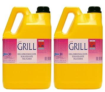 Grill 2 x 5000ml Limpiador Desengrasante Forte para hornos, niveles de cocción,, placas