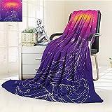 AmaPark Digital Printing Blanket Zen Yoga God in Lotus Position Meditation Boho Violet Fuchsia Summer Quilt Comforter