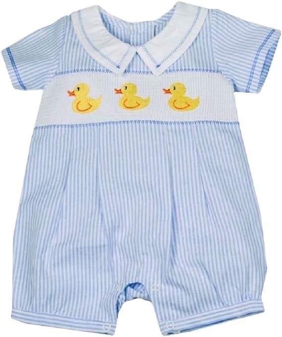 Baby boy Spanish Style Smocked Romper Suit