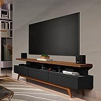 Rack para Tv até 72 Polegadas Vivare Wood Móveis Germai Black/freijó