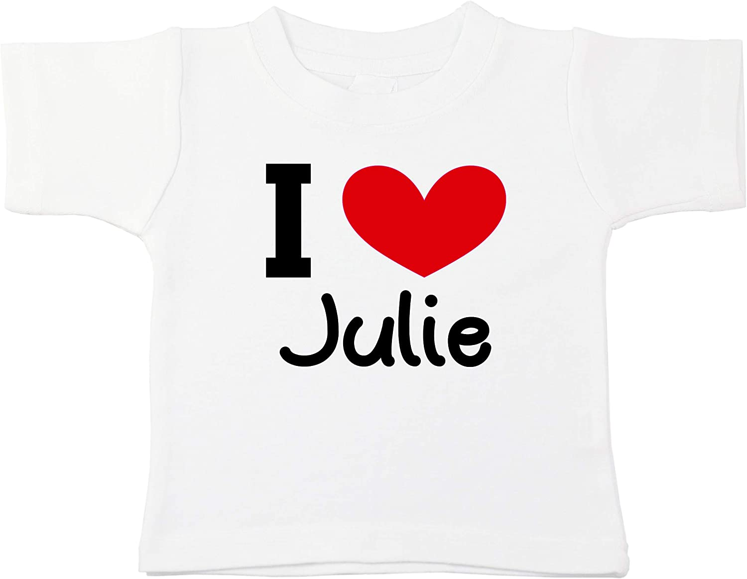 Kinacle I Love Julie Personalized Baby//Toddler T-Shirt