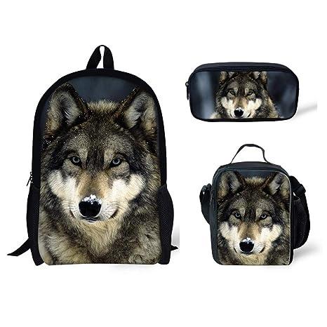Amazon.com: HUGS IDEA - Bolsas de almuerzo con diseño de ...