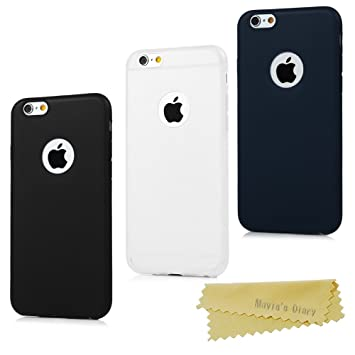 3948dbf31ed 3x Funda iPhone 6 Plus/iPhone 6s Plus 5.5 Pulgada, Carcasa Silicona Gel iPhone  6s Plus Mate Case Ultra Delgado TPU Goma Flexible Cover Protectora: ...