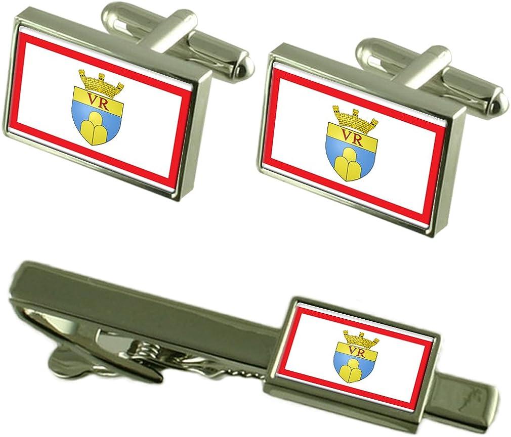 Victoria City Malta Flag Cufflinks Tie Clip Box Gift Set