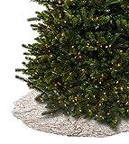 Farrisilk Platinum Ruched Simply Elegant Tree Skirt 60''