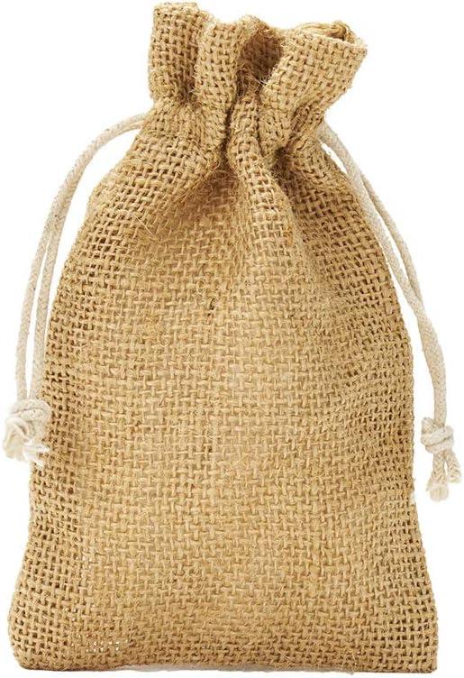 10 bolsas de yute con cordón de algodón. Tamaño: 30x20 cm, 100 ...