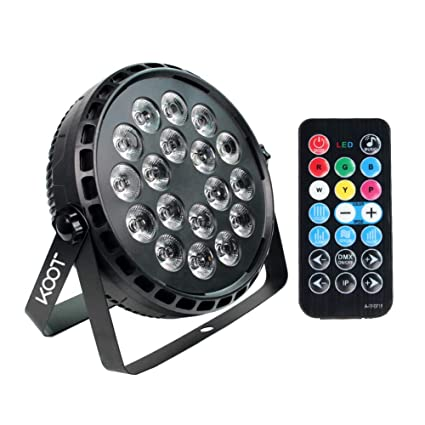 Stage Lights Koot 72w Super Bright Rgbw Uplight Dj Par Can Light Led By Remote Control And Dmx Sound Activated For Dj Club Bar Wedding Show