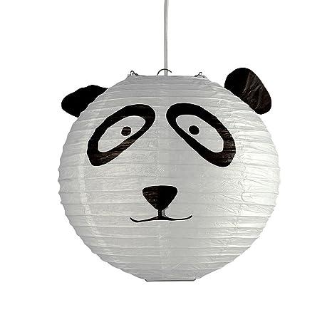 BBC 3 x Habitación infantil Panda linterna de papel Lámpara ...