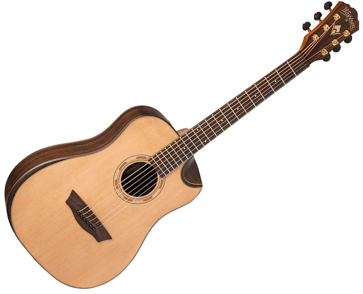 Washburn ワッシュバーン WCDM25SK Comfort Series Dreadnought 6弦 アコースティックギター - Natural アコースティックギター アコギ ギター (並行輸入) B00XCW9SEM