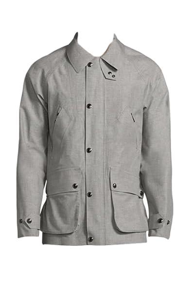 Polo Ralph Lauren Garner Water-Resistant Wool Coat (X-Small, Grey)