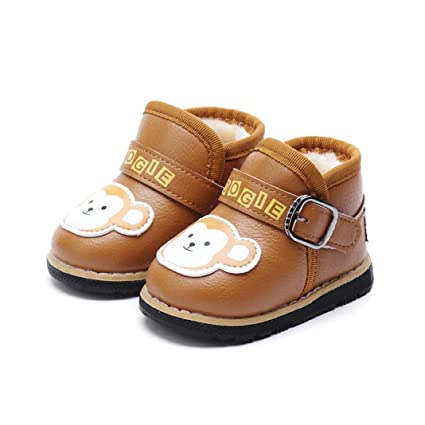 Soft Sole Leather Baby Shoes Boy Gift Toddler Infant kids Elephant Blue 18-24M