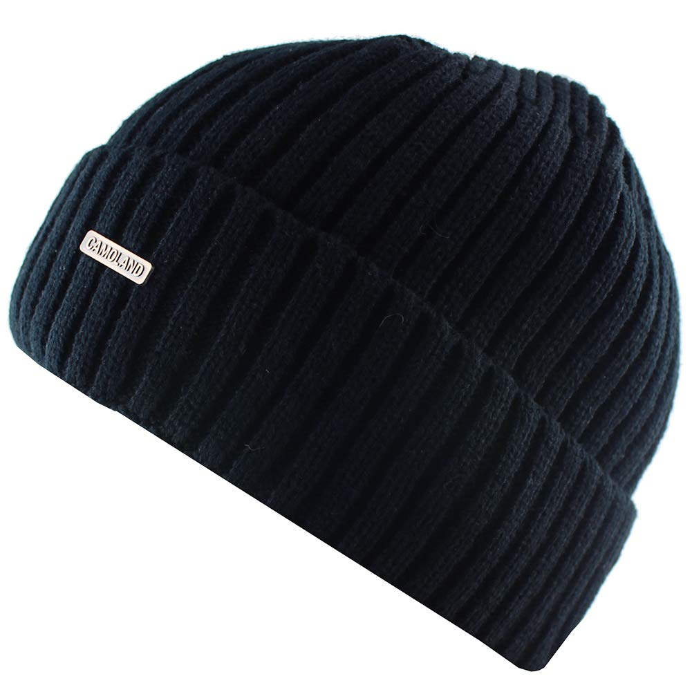CAMOLAND Mens Winter Cable Knit Hat Fleece Lined Watch Beanie Skull Cap   Amazon.co.uk  Clothing bd449330cc3c