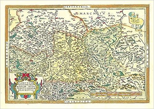 Landkarte Die Lander Thuringen Und Sachsen 1570 Die Alteste