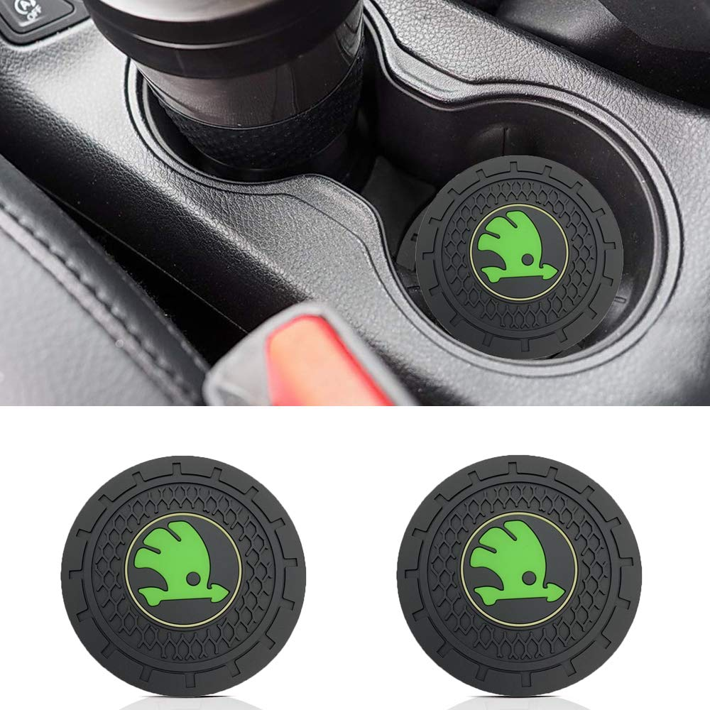 red Wall Stickz 2.75 Inch Diameter Oval Tough Car Logo Vehicle Travel Auto Cup Holder Insert Coaster Can 2 Pcs Pack fit gmc Accessory