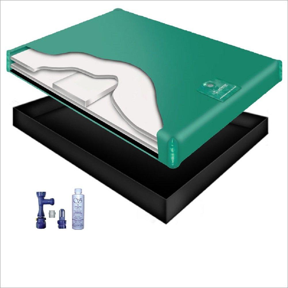 80% WAVELESS WATERBED Mattress/Liner/Fill Drain/Conditioner KIT (Queen 60x84 1G6S2)