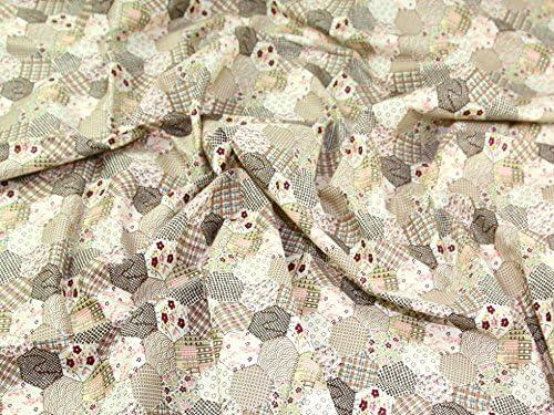 Retales de tela Beige - popelín de algodón por metro + ...