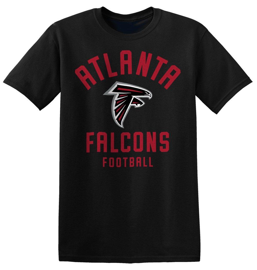 Zubaz NFL Atlanta Falcons Men's Classic Logo Crew Tee, Small, Black