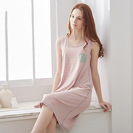 Pijamas de Modal Falda sin Mangas de Verano de Las Mujeres Falda ...