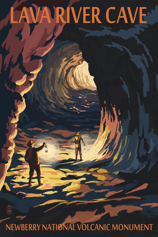 古典 Lava川Cave – Cotton Lava Lands、オレゴン州 Cotton Towel LANT-33466-TL Print B00N5CFEI8 Art 9 x 12 Art Print 9 x 12 Art Print, CHRONO:03807b00 --- arianechie.dominiotemporario.com