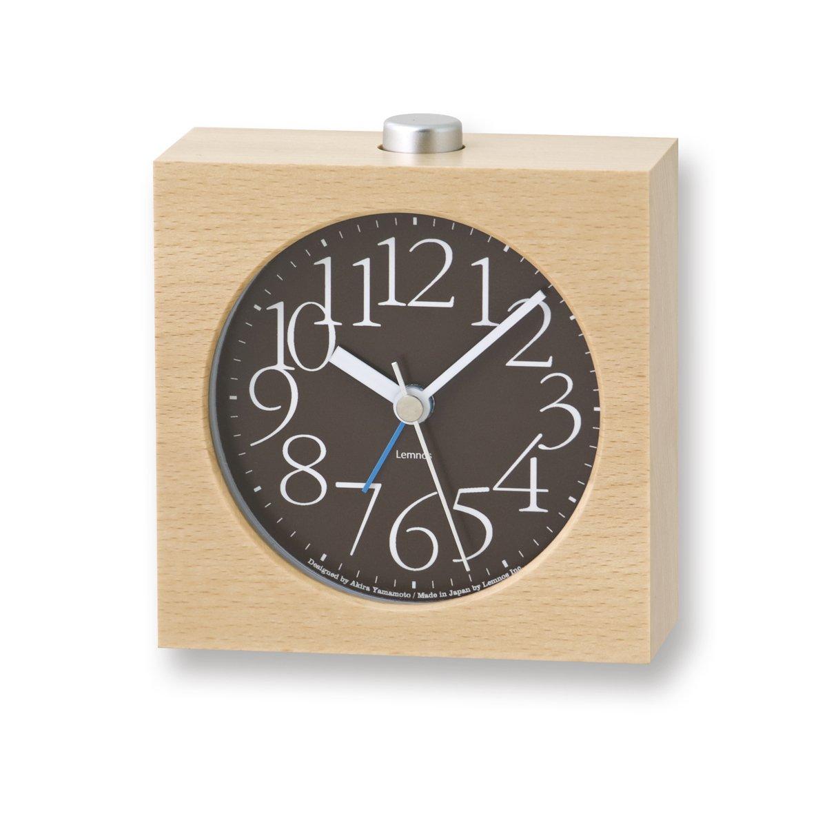 Lemnos LA10-07 AY AY AY Alarm Clock, braun 6f44fd