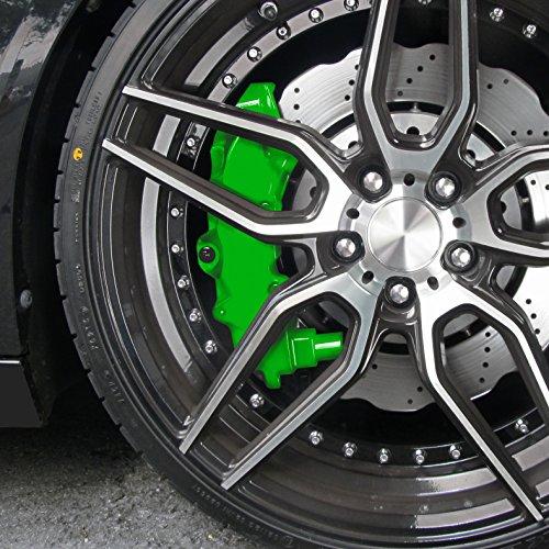 Kit peinture d'étrier de frein, vert, 1 composante, peinture d'étrier de frein 75ml, nettoyant de freins 250ml, brosse et gants