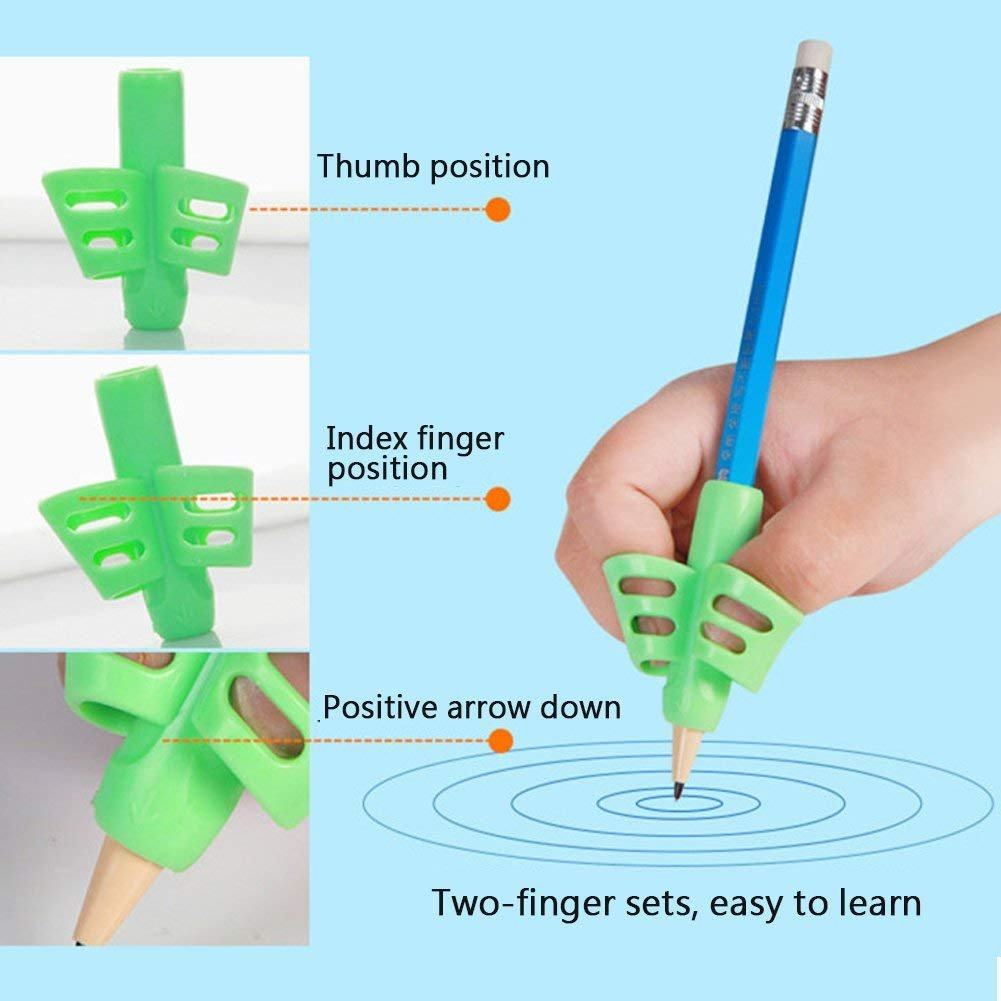 Pencil Writing Grips for Kids Handwriting 20 Pack Pencil Holder Utensils Pen Writing Aid Grip Posture Correction Tool with Comfortable Ergonomic Writing by Bomach (Image #6)