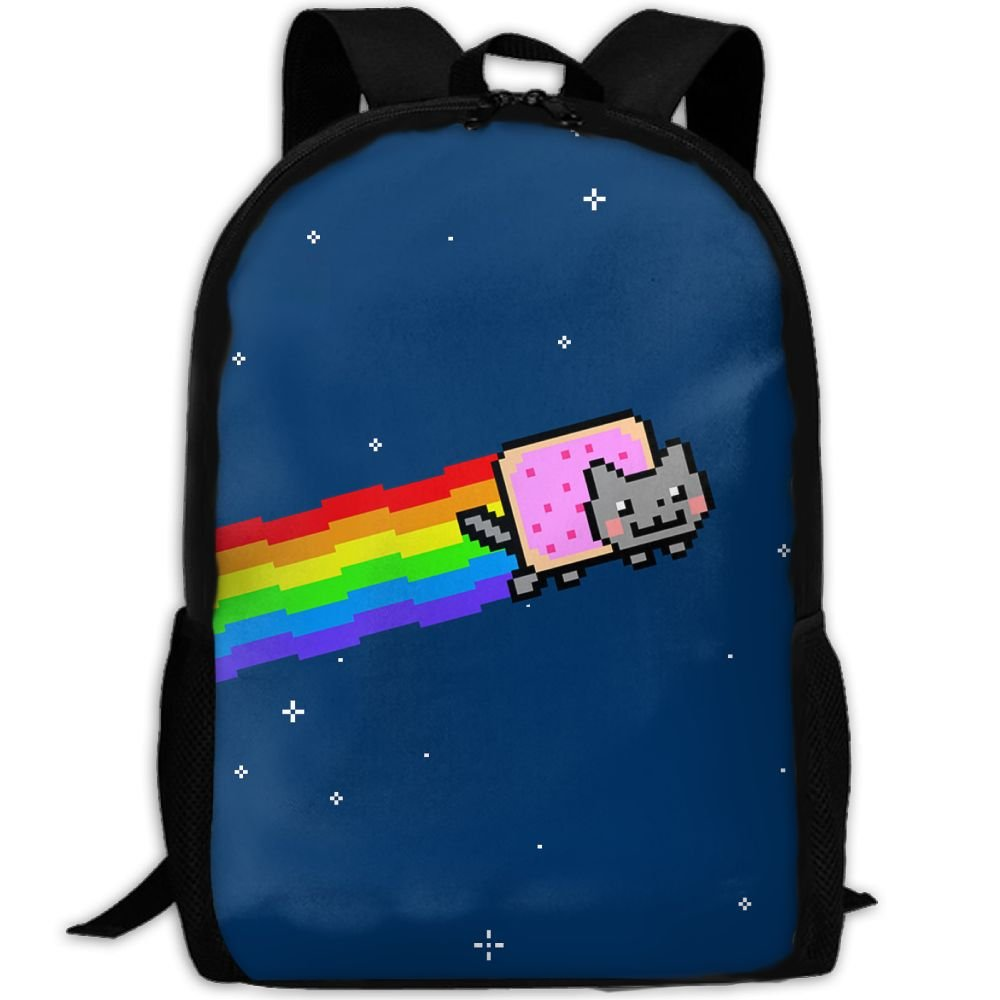 Student Backpack, School Backpack For Laptop,Most Durable Lightweight Cute Travel Water Resistant School Backpack - Cute Nyan Cat.jpg