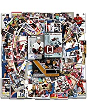 NHL Hockey Trading Cards Mega Pack | 100 NHL Sports Cards | 1 Official NHL Autographed, Jersey, Relic Serial Numbered Card in Every Pack | Perfect Starter Set | Collectible Trading Card Packs & Boxes