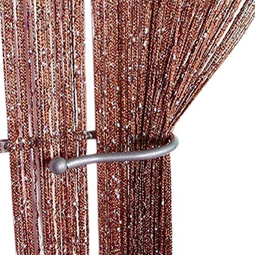 ZiDeTang Dense Glitter Flat String Door Curtain Divider Tassel Panel Color ()