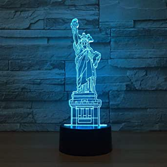 3D Night Light Nueva York Estatua De La Libertad (Interruptor ...
