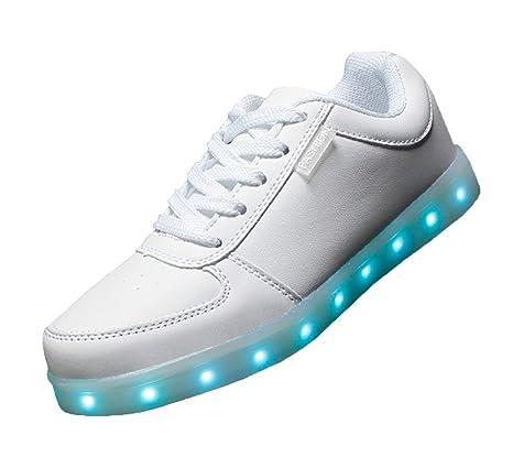 0ad4a915fc74ca ELEAR reg  Unisex-Erwachsene Unisex Herren Damen 7 Farbe LED Leuchtend  Sport Schuhe Glow Sneakers