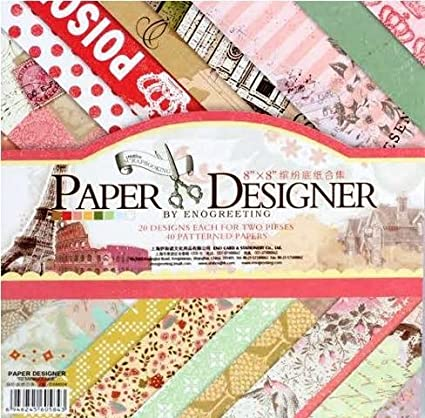 Pattern Design Printed Papers For Art N Craft Size 8x 8 Inch Set