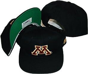 3a8623211bec7 Sports Specialties Minnesota Gophers Vintage Black Snapback Adjustable  Plastic Snap Back Hat Cap