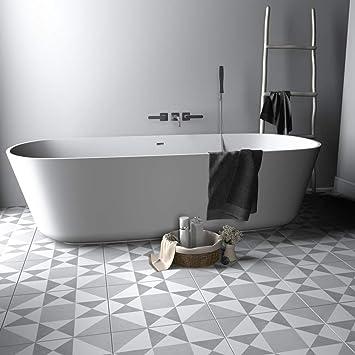 Amazon Com Sticker Tile Stickers Ohio Star Pattern Tile Decal Floor Tile Decal Bathroom Flooring Kitchen Flooring Tile Stickers Tile Decals Wall Peel Stick Vinyl Adhesive Tiles Set 12 Units Baby