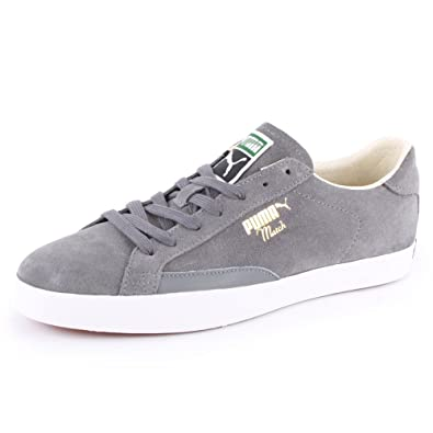 4cd182568d8866 Puma Match Vulc 357089 02 Mens Laced Suede Trainers Grey White - 9  Amazon. co.uk  Shoes   Bags