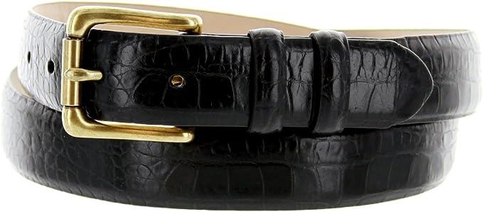 Mens Italian Genuine Leather Dress Belt 1-1//8 Wide