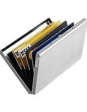 Enyoir Delgado Billetera de Aluminio con RFID Bloqueo para Tarjetas de Crédito Cartera Tarjetero de Metal