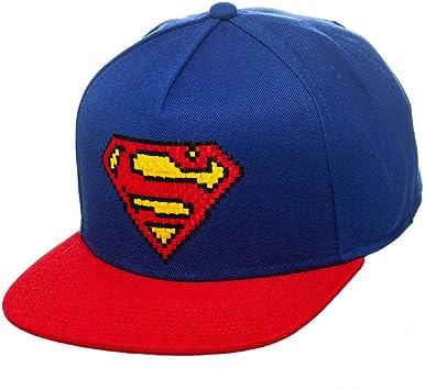 Superman - Pixel Logo Gorra - Blue: Amazon.es: Juguetes y juegos