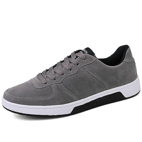 Otoño/Verano 2018 Zapatillas de Deporte de Moda de los Hombres Zapatos de Deporte de tacón Plano con Cordones hasta el tamaño 46: Amazon.es: Zapatos y ...