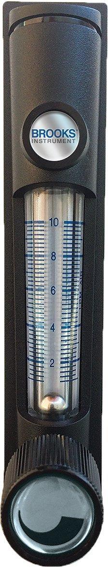 4/% F.S. Brooks Instrument Flowmeter MR3A02SVVT Inlet Valve .4-5 SCFH Air 1//8 FNPT SS Ftg