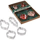 Set Of 4 Bauble Christmas Cookie Cutters