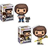 Funko Pop TV Bob Ross S2 - Bob Ross w/ Racoon and Bob Ross in Overalls Vinyl Figures SET