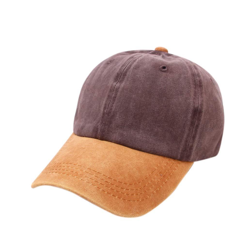 Tanlo 2019 Women Men Unisex Summer Outdoors Denim Visor Baseball Cap Adjustable Hat (Yellow, One Size)