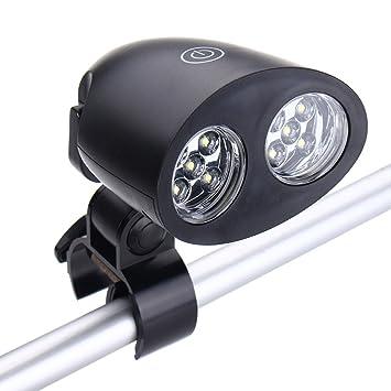 Luz de Bicicleta Pathonor Luz externo, Luz de barbacoa con 10 luces LED superbrillantes Rotación