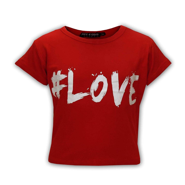 A2Z 4 Kids® Kids Girls New Season # Love Printed Crop TOP T Shirt 7 8 9 10 11 12 13 Yr