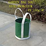Best Garden Tools Garden bag 50L PE 180G gardening leaves bag garden plant flower bag litter bag