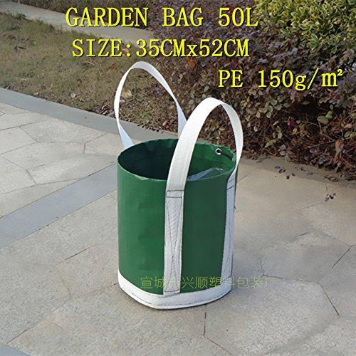 Best Garden Tools Garden bag 50L PE 180G gardening leaves bag garden plant flower bag litter bag