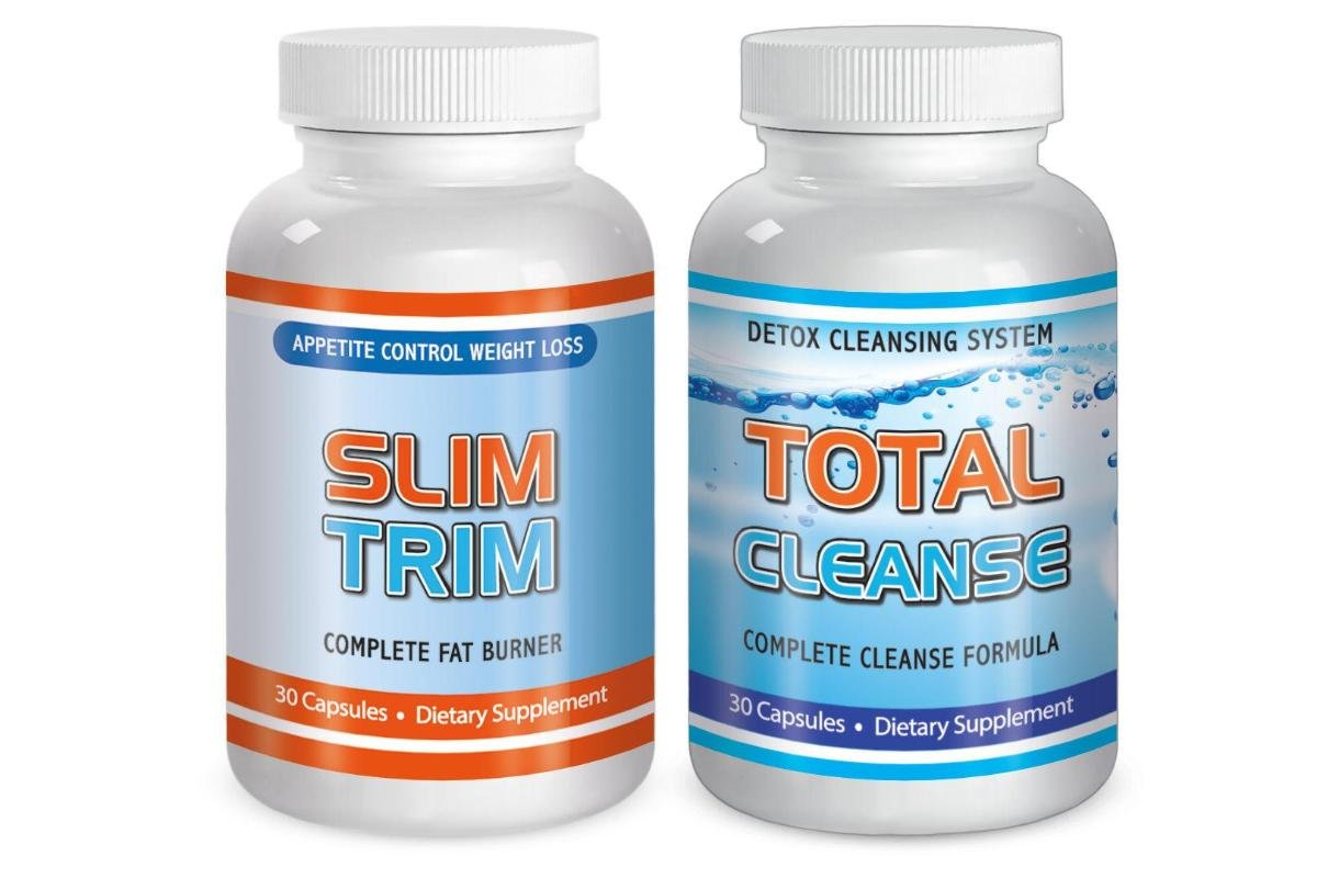 Total Slim Trim and Cleanse Detox Maximum Diet Rapid Weight loss Fat Burn System Kit