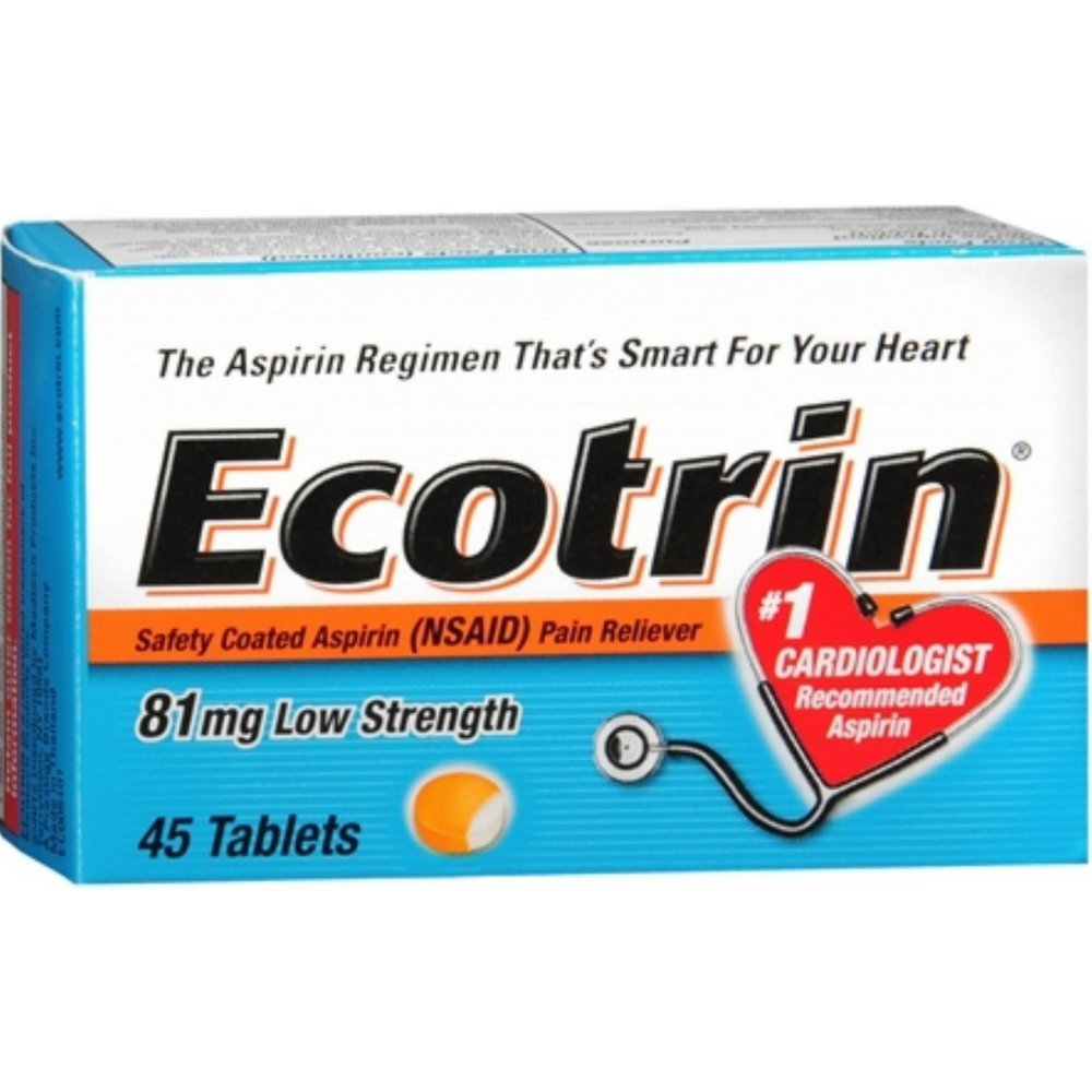 Ecotrin 81 mg Low Strength 45 Tablets
